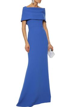 Shop on-sale Off-the-shoulder wool-blend crepe gown. Browse other discount designer Gowns & more luxury fashion pieces at THE OUTNET Couture Fashion, Luxury Fashion, Satin Gown, Lela Rose, Ball Gown Dresses, Stretch Satin, Dress Cuts, Designer Gowns, High End Fashion