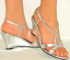 833e78ccae6 Sexy Sandals  Dazzling R. Silver Shoes Low HeelSilver ...