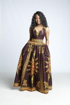 VICTORIA Maxi Dress in BROWN Latest African Fashion Dresses, African Print Dresses, African Dress, African Clothes, African Design, African Style, African Inspired Clothing, Dashiki Dress, Fashion 2020