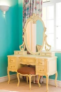 Vintage Vanity Desk I would prefer a different color but definitely something I would like to have someday