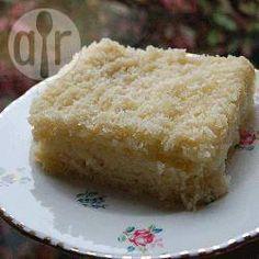 Foto recept: Kokos-plaatkoek met karnemelk