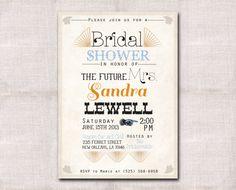 Bridal Shower Invitation custom printable 5x7 via Etsy
