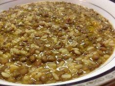 Minestra di riso, lenticchie e pancetta, Ricetta Petitchef