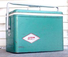 Vintage Coleman Cooler by OldGreenCanoe on etsy