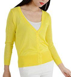 Shawhuaa Womens 3/4 Sleeve Casual Knitted Button Cardigan... https://www.amazon.com/dp/B0146KZHXY/ref=cm_sw_r_pi_dp_x_wCW7xbJM9YCTJ