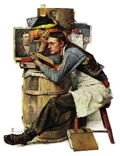"""""""Law Student"""" by Norman Rockwell Painting Print on Canvas"""