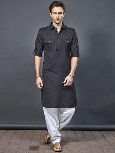 Kurta Pajama Men, Kurta Men, Pathani For Men, Mens Indian Wear, Pathani Kurta, Boys Kurta Design, Gents Kurta, Mens Suits Online, Kurta Patterns