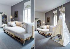 Диван из поддонов и паллет #мебель #паллеты #поддоны