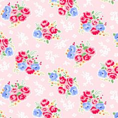 1 yard---Bouquet in Pink, Pam Kitty Morning, Lakehouse Dry Goods. $10.00, via Etsy.