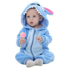 Cheap baby costume, Buy Quality stitch baby costume directly from China infant romper Suppliers: IDGIRL Baby Clothes Infant Romper Baby Boys Girls Jumpsuit New born Bebe Baby Clothing Hooded Toddler Cute Stitch Baby Costumes Baby Set, Baby Kostüm, Baby Boy Newborn, Baby Boys, Toddler Girl, Bebe Baby, Camo Baby, Infant Girls, Toddler Jumpsuit