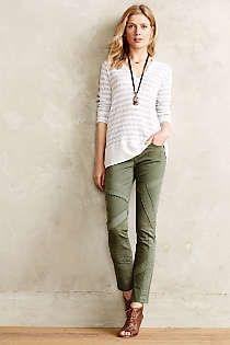 Anthropologie - Pilcro Stet Sateen-Stripe Jeans