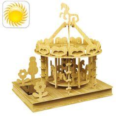 [USD7.63] [EUR7.20] [GBP5.56] Solar Playground Puzzle Toys Solar DIY Toy Good for Kids(Beige)