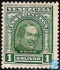 Stamps - Venezuela - Bello 1911