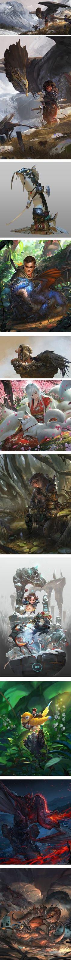 Monster Concept Art, Fantasy Monster, Fantasy Creatures, Mythical Creatures, Fantasy Illustration, Art Illustrations, Dragons, Fantasy Artwork, Fantasy Images