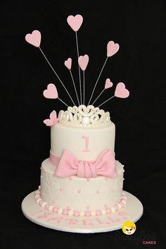 Princess first birthday cake by Sunny Girl Cakes, via Flickr