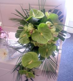 Great Anthurium ideas. Kind of large bouquet.
