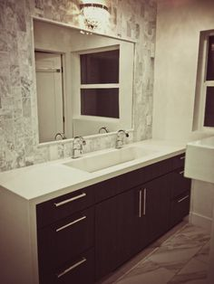 I like the tile around the mirror for around the soaking tub
