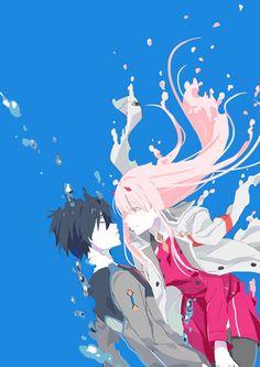 Zero two & hiro -darling in the franxx art Mecha Anime, Anime Zero, Anime Shop, Familia Anime, Girls Anime, Zero Two, Ecchi, Best Waifu, Darling In The Franxx