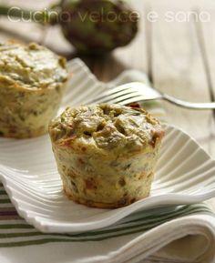 Tortino di carciofi e speck, ricetta antipasti   Cucina veloce e sana