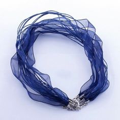 Wholesale Silk Organza Voile Ribbon Cord Necklace Adjustable Lobster Clasp 18"