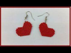 Beaded Jewelry Patterns, Beading Patterns, Brick Stitch Tutorial, Crochet Dog Patterns, Brick Stitch Earrings, Earring Tutorial, Bead Crochet, Beading Tutorials, Bead Weaving