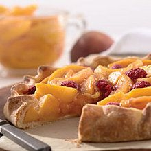 50 Peach recipes; Rustic Peach Tart