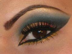 eyes - gold & green