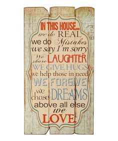Look at this 'In This House' Sign on #zulily today!