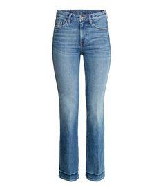 Straight Cropped High Jeans | Blau | Damen | H&M DE