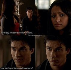 Bonnie & Damon ♥ Bamon Damon Salvatore Vampire Diaries, Vampire Diaries Cast, Vampire Diaries The Originals, Damon And Bonnie, The Originals 3, Bonnie Bennett, Mystic Falls, Vampire Dairies, Delena