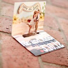 "Soo cute ❤ ""Save The Date"" Wedding idea"