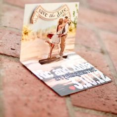 "Soo cute ❤ ""Save The Date"" Wedding idea"