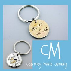 Okay, so it's not ALL silver!  The back of this keychain is red brass, but it holds a powerful message!