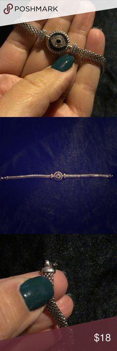 "Silver ""malocchio"" bracelet Silver malocchio (or evil eye) bracelet. Fits average wrist. Jewelry Bracelets"
