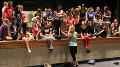 """The students at South Park Senior High School rehearse the musical """"Li'l Abner."""""""