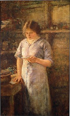 The recipe by Frederick McCubbin February 1855 – 20 December Australian painter who was prominent in the Heidelberg School, one of the more important periods in Australia's visual arts history. Australian Painting, Australian Artists, Canvas Prints, Framed Prints, Old Master, Artist Painting, Poster Size Prints, Impressionist, Art For Sale