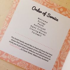 how to make an order of service booklet on word