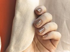 sparkly nude - alessandro international - cappuccino and sephora by opi - only gold for me