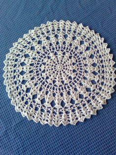 carpeta redonda a crochet