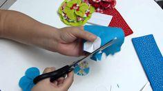 flores grandes en tela para decorar accesorios para el cabello. video 341