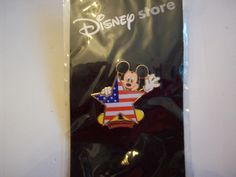 #disney Patriotic Mickey Mouse With American Flag In A Star ****NEW**** Disney Pin please retweet