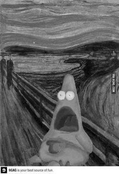 The Scream: Spongebob Edition Patrick Meme, Patrick Star, Funny Photos, Best Funny Pictures, Meme Pictures, Surprised Patrick, Art Jokes, Square Pants, Pop Culture References