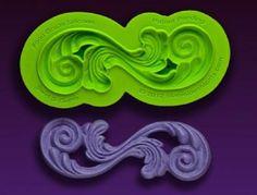 Marvelous Molds silicone scroll mold -Swirl S-Curve- fondant gum paste #MarvelousMolds