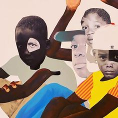 Deborah Roberts - That One Deborah Roberts, Mother And Child Painting, Activist Art, Romare Bearden, African Paintings, Collage Art Mixed Media, African Masks, Black Artists, Photomontage