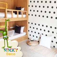 Αυτοκόλλητα μαύρο ΠΟΥΑ / STICKERS ΣΕΤ 100τεμ. Toddler Bed, Polka Dots, Wall Decor, Decoration, Furniture, Home Decor, Child Bed, Wall Hanging Decor, Decor
