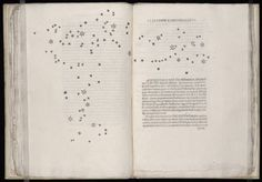 Galileo's illustration of the constellation of the Pleiades, in the first edition of Sidereus Nuncius