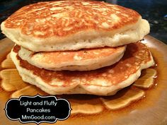 Best Pancake Recipe Ever. I make them for the month and freeze them.I have my own homemade easy to go Pancakes then! They taste great in the microwave! Yum!