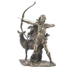Artemis Diana of Versailles Huntress w/ Deer Statue Greek Goddess Statue Artemis Greek Goddess, Greek Goddess Statue, Greek And Roman Mythology, Greek Gods, Artemis Tattoo, Potnia Theron, Diana Statue, Deer Statues, Roman Gods