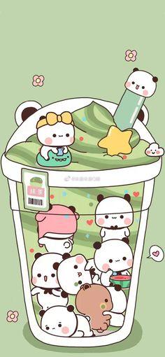 Wallpaper Panda, Panda Wallpapers, Cute Pastel Wallpaper, Cartoon Wallpaper Iphone, Cute Wallpaper For Phone, Cute Anime Wallpaper, Cute Cartoon Wallpapers, Wallpaper Keren, Cute Bear Drawings