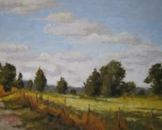 "Along the Fence, 16""x20"", oil on RayMar panel, SOLD"